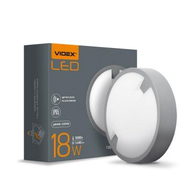LED светильник (ЖКХ) круглый VIDEX 18W 5000K сенсорный
